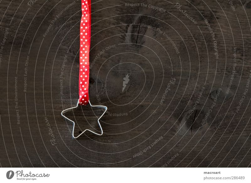 Christmas & Advent Red Wood Feasts & Celebrations Brown Decoration Star (Symbol) Creativity Point Wooden board Spotted Gift wrapping