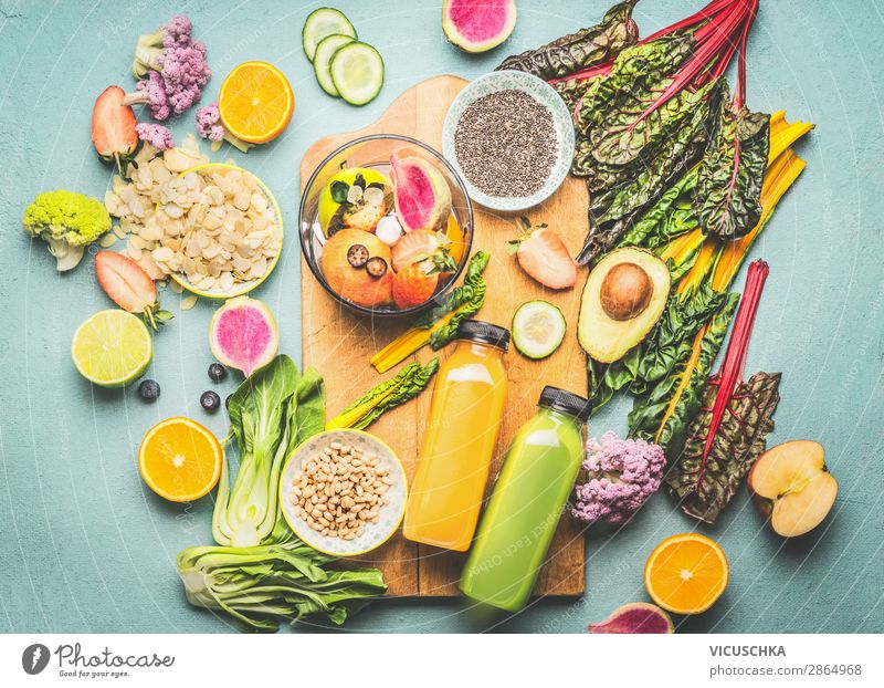 Healthy Smoothie Ingredients and Mixers Food Vegetable Fruit Apple Orange Grain Herbs and spices Nutrition Breakfast Organic produce Vegetarian diet Diet
