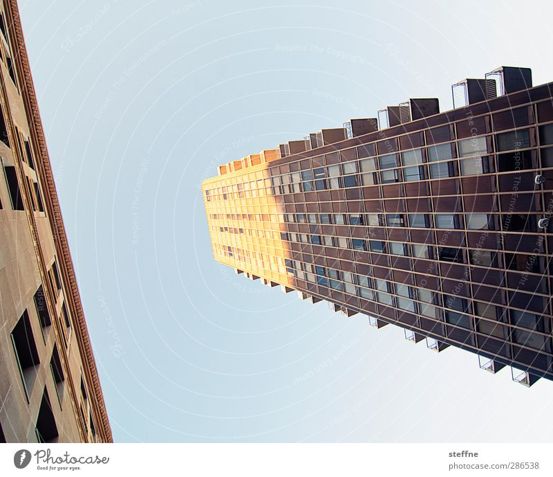 K Sky Cloudless sky Sun Beautiful weather St. Louis USA Town House (Residential Structure) High-rise Facade Colour photo