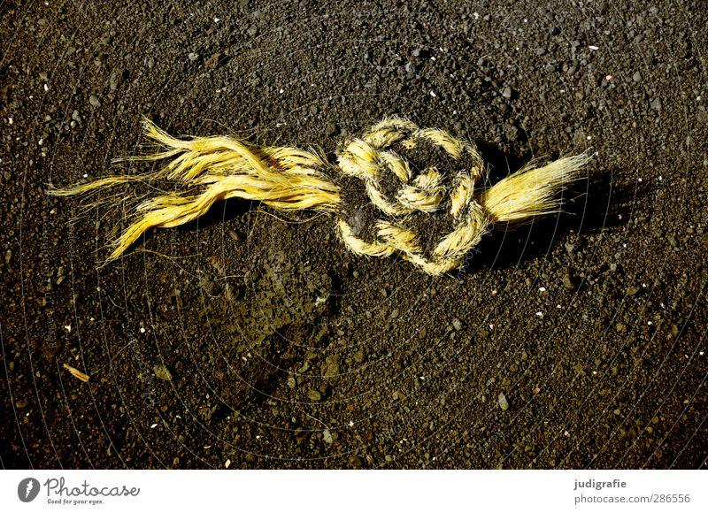 Old Beach Yellow Sand Rope Broken Knot Lava beach