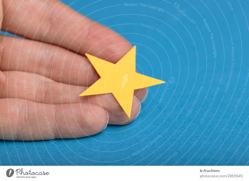 Blue Yellow 1 Business Decoration Success Fingers Star (Symbol) Sign To hold on Adult Education Select Recommendation Decision Report Card Evaluate