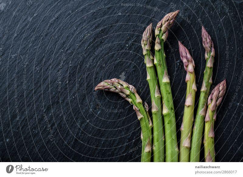 fresh green asparagus Food Vegetable Asparagus Nutrition Organic produce Vegetarian diet Life disk slate Simple Fresh Delicious Natural Beautiful Green Black