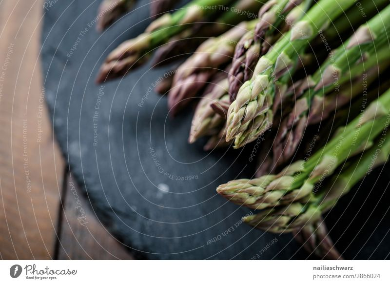 fresh green asparagus Food Vegetable Asparagus Nutrition Organic produce Vegetarian diet Lifestyle Healthy Eating Delicious Natural Beautiful Green Black Colour