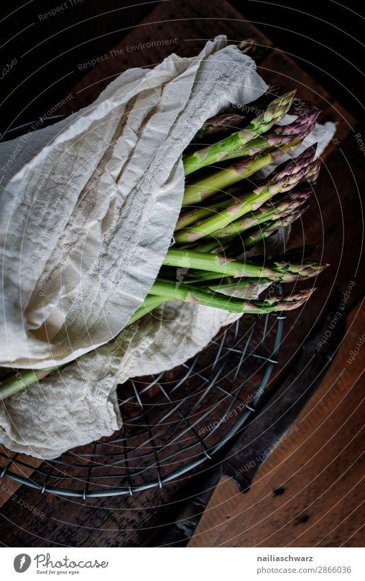 Fresh Green Asparagus asparagus green asparagus vegetable fresh raw kitchen preparing cooking preparation wet bowl slate plate decoration decorative decorated