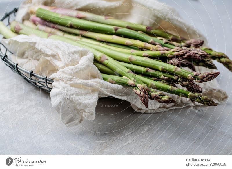 Green asparagus Food Vegetable Asparagus Asparagus season Bunch of asparagus green asparagus Organic produce Vegetarian diet Diet Fasting Slow food Bowl