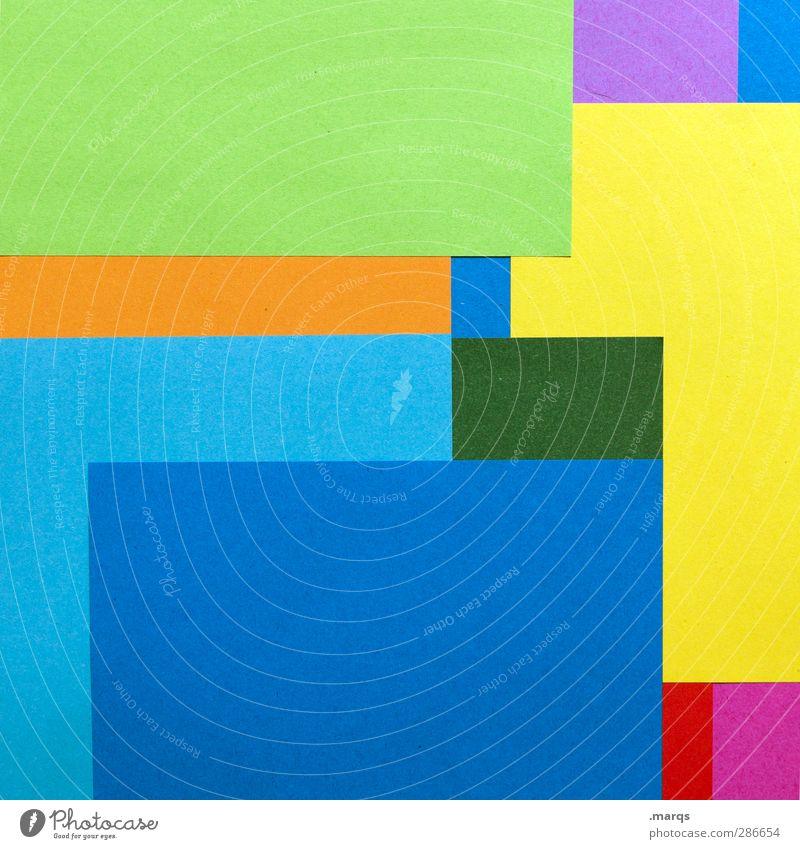 blocks Style Design Art Decoration Paper Sharp-edged Hip & trendy Modern Beautiful Multicoloured Colour Arrangement Illustration Background picture Colour photo