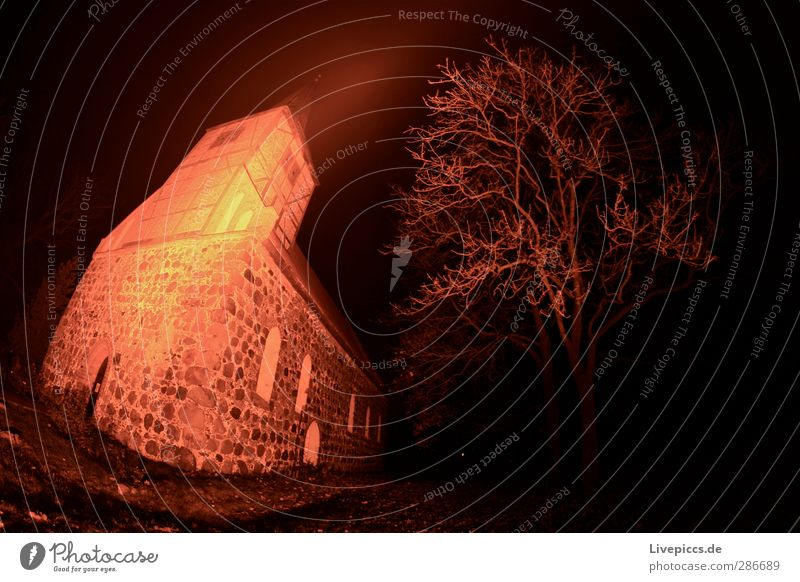 Plant Tree Red Landscape House (Residential Structure) Yellow Dark Architecture Religion and faith Building Stone Pink Orange Illuminate Church