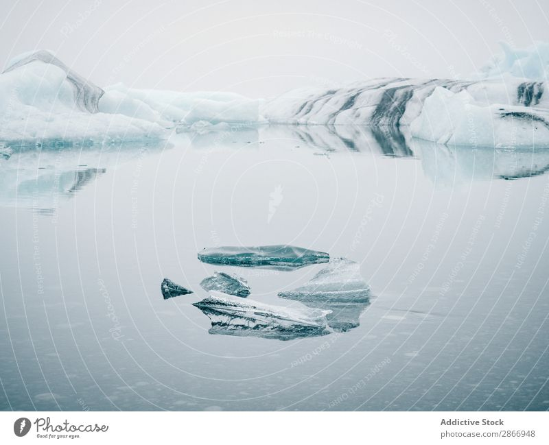 Ice on water between snow Water Snow Surface Iceland Winter Cold Picturesque Nature White Landscape Frozen Vantage point Seasons Frost North Weather