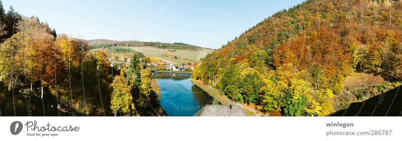 Autumn in Marsberg Joy Happy Vacation & Travel Trip Far-off places Cycling tour Summer vacation Sun Mountain Hiking Nature Landscape Air Water Sky Tree Leaf