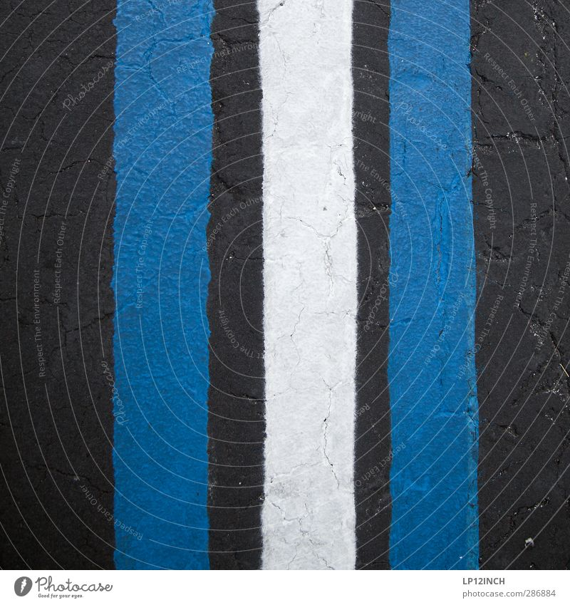 III. XXIV Art Transport Traffic infrastructure Street Signs and labeling Retro Town Blue Black Design Inspiration Creativity Arrangement Attachment Line Asphalt