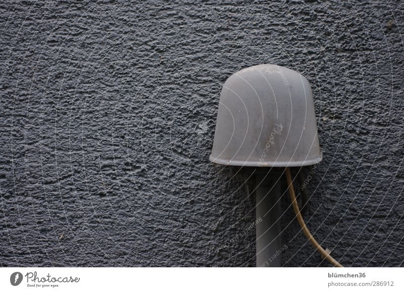 Old Colour Wall (building) Gray Gloomy Communicate Telecommunications Telephone Cable Internet Analog Plaster To call someone (telephone) Mail