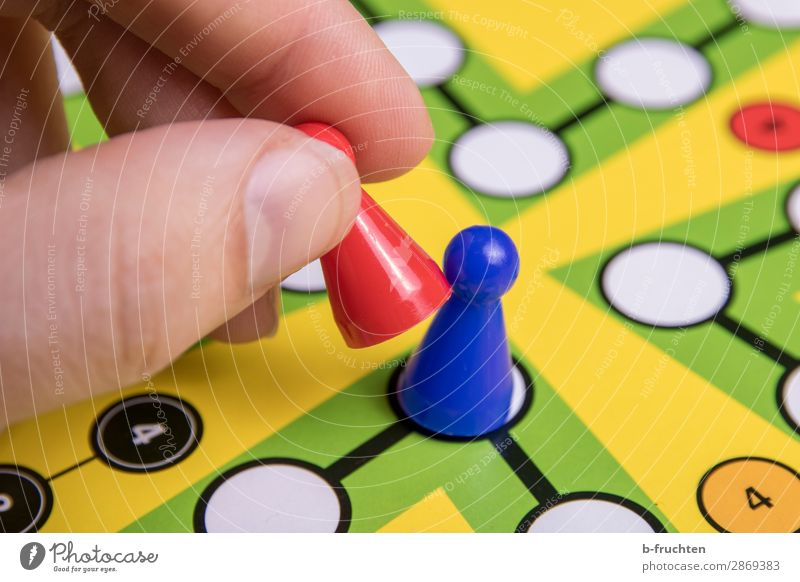 Somebody get out! Joy Happy Leisure and hobbies Playing Board game Success Loser Fingers Sign Select Movement Blue Multicoloured Piece Player Playful