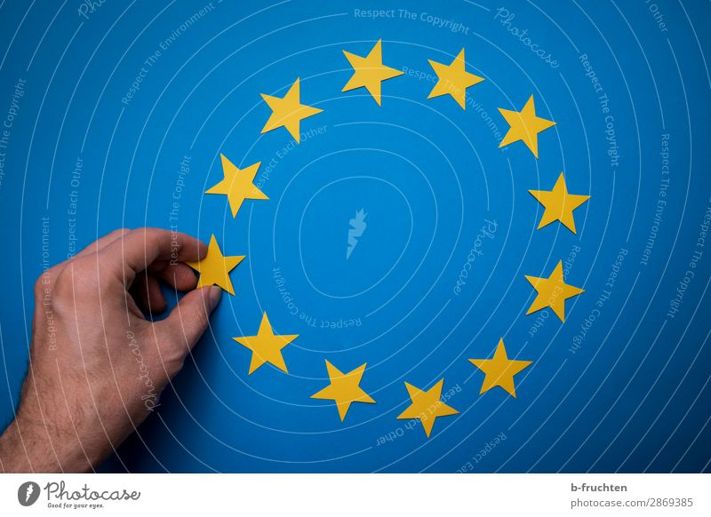 Man Blue Hand Adults Yellow Together Free Europe Success Beginning Future Fingers Star (Symbol) Paper Sign Cleaning