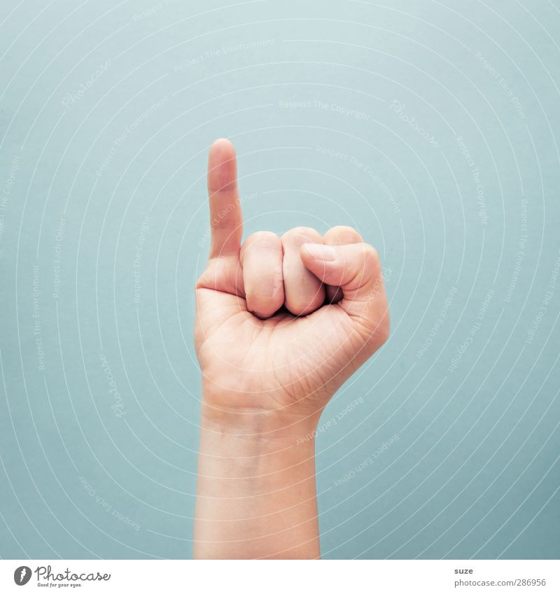 Hand Bright Arm Skin Fingers Communicate Cool (slang) Simple Sign European Hip & trendy Clue Gesture Thumb Light blue Sign language