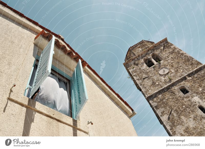 flatulence Croatia Village Fishing village Old town Detached house Church Tower Manmade structures Building Architecture Church spire Facade Friendliness Cuddly