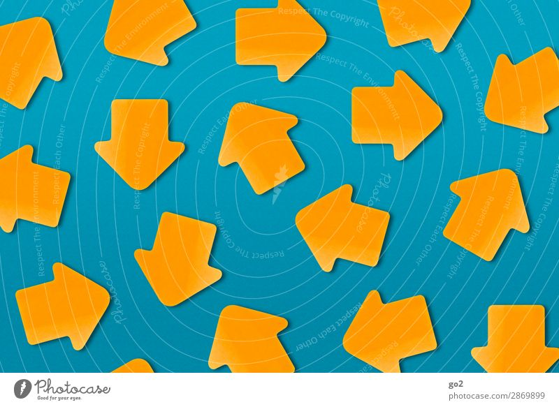 Where are you going? Sign Arrow Many Blue Orange Flexible Claustrophobia Fear of the future Stress Nerviness Grouchy Frustration Aggression Effort Chaos Society