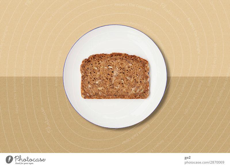 Healthy Eating Food Brown Nutrition Esthetic Poverty Simple Baked goods Breakfast Vegetarian diet Diet Bread Crockery Plate Dinner