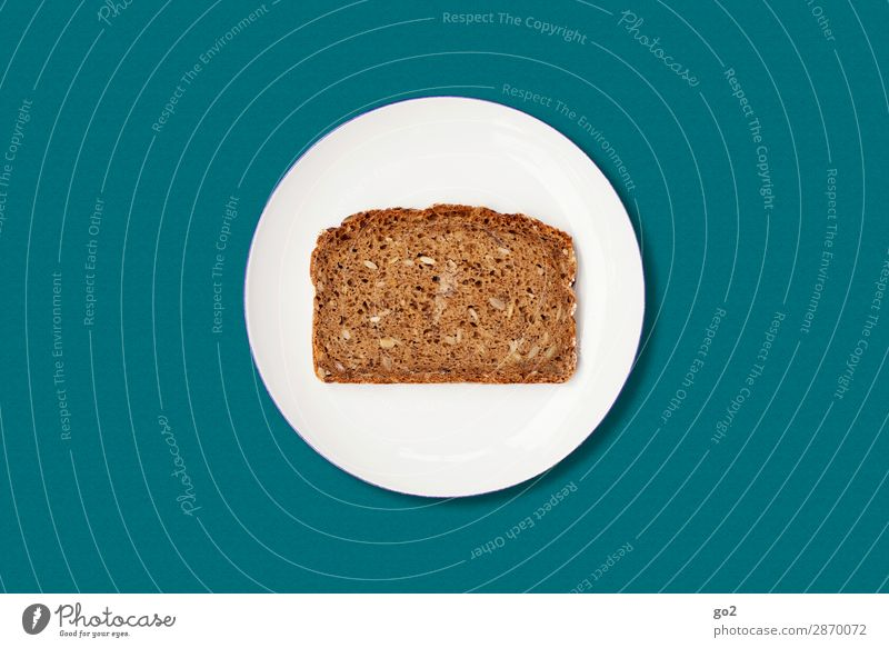 Bread on plate Food Dough Baked goods Nutrition Breakfast Dinner Organic produce Vegetarian diet Diet Fasting Plate Healthy Eating Esthetic Simple Round