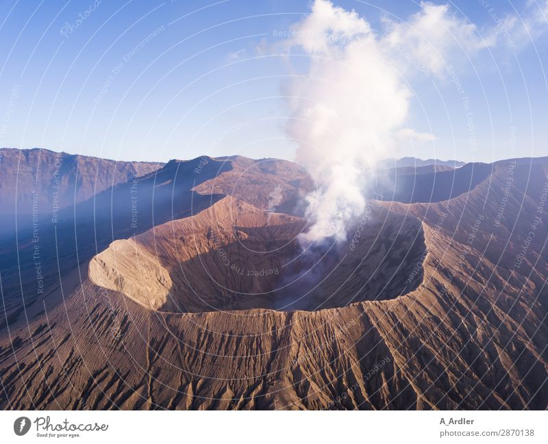 Volcano Mount Bromo on Java in Indonesia Vacation & Travel Tourism Trip Adventure Far-off places Freedom Expedition Summer Mountain Hiking Environment Nature