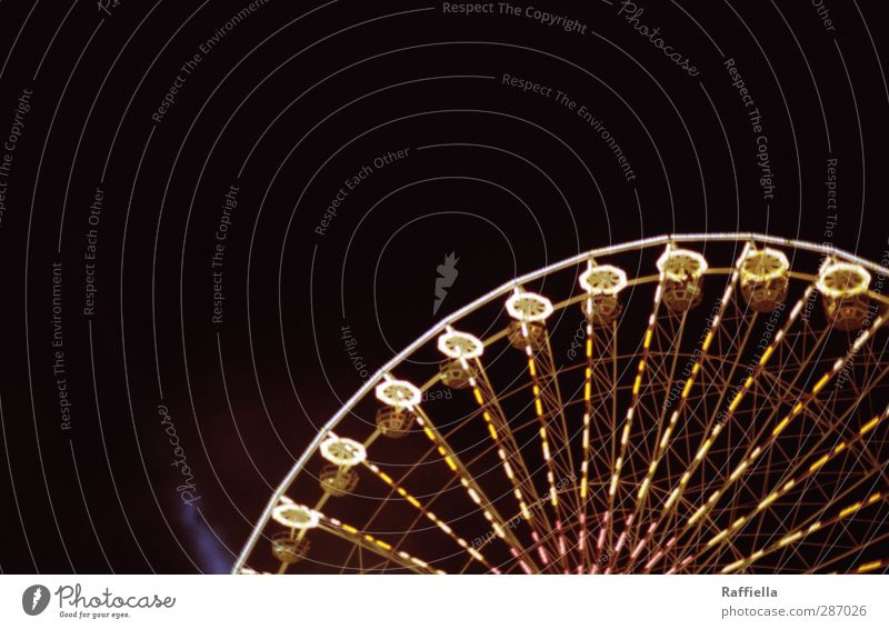 round and round Sky Cloudless sky Night sky Movement Driving Illuminate Carousel Ferris wheel Fairs & Carnivals Lamp Light (Natural Phenomenon) Visual spectacle