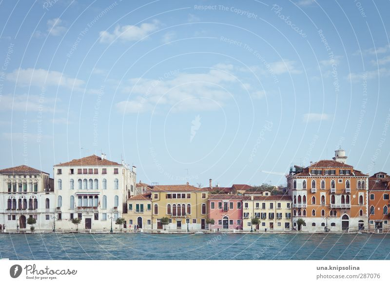 ve... Vacation & Travel Sightseeing City trip Water Venice Italy Town House (Residential Structure) Architecture Sharp-edged Multicoloured Colour photo