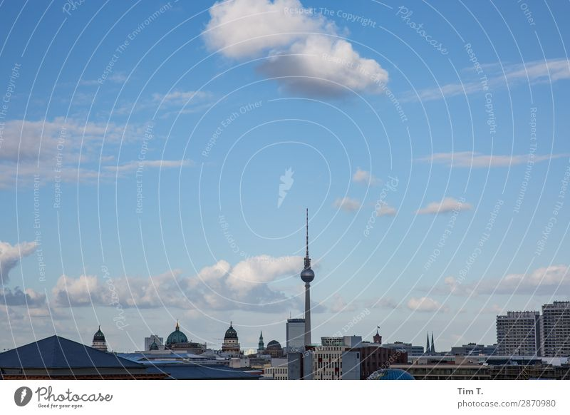 Clouds over Berlin Town Capital city Downtown Skyline Deserted House (Residential Structure) Window Roof Tourist Attraction Landmark Television tower Trade