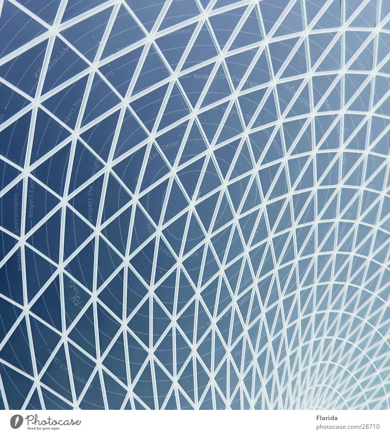 Sky Blue Architecture Roof Net Museum Grating Aspire Domed roof