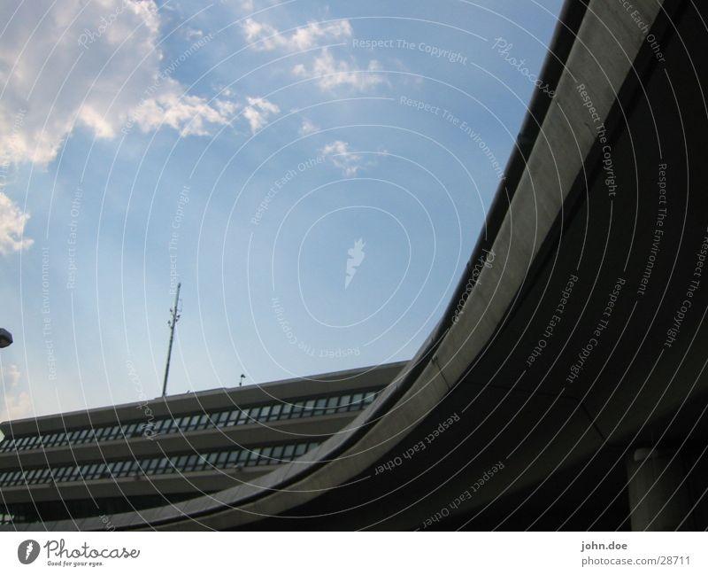 Sky City Building Architecture Concrete Airport Curve