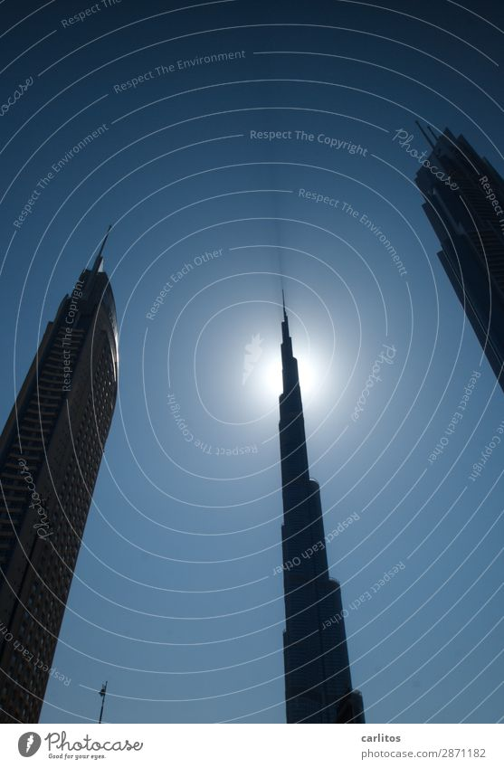 High-rise Landmark Dubai United Arab Emirates Economic crisis Megalomania Economic growth