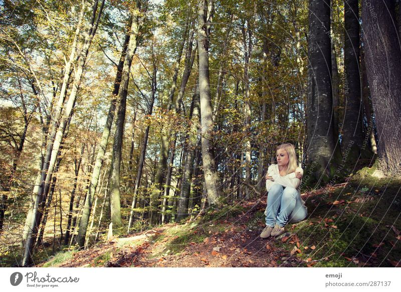 Human being Youth (Young adults) Loneliness Relaxation Forest Adults Environment Young woman Feminine 18 - 30 years Individual Uniqueness Retreat Recreation area
