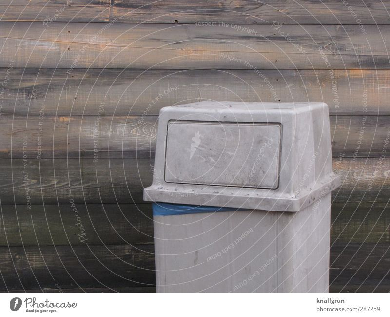 City Environment Wall (building) Emotions Gray Wall (barrier) Brown Facade Dirty Arrangement Stand Clean Sharp-edged Environmental pollution Trash container
