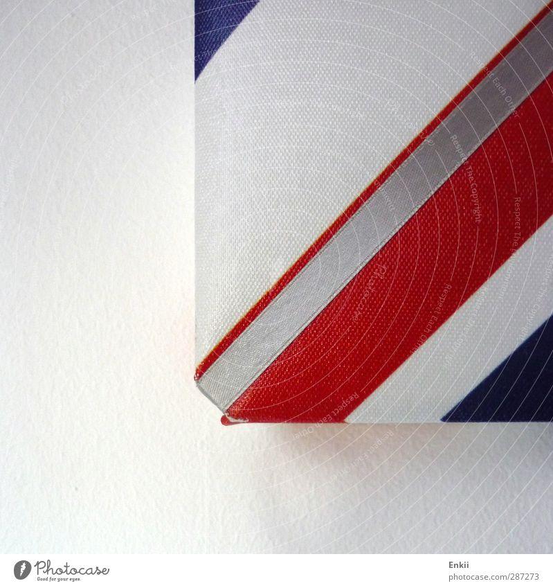 Blue White Red Colour Wall (building) Gray Bright Line Modern Design Living or residing Concrete Decoration Corner Stripe String