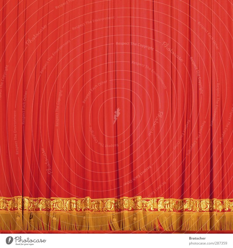 Red Gold Birthday Cloth Surprise Concert Anticipation Drape Tension Circus Undo Excitement Culture Jubilee Gala