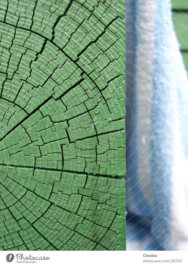 Green Wood Soft Crack & Rip & Tear Hard Striped Towel Wood grain