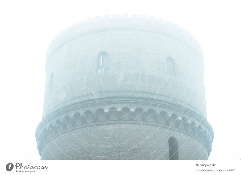 water droplet tower Town Deserted Factory Ruin Tower Manmade structures Architecture Wall (barrier) Wall (building) Chimney Brick Brick wall Water tower