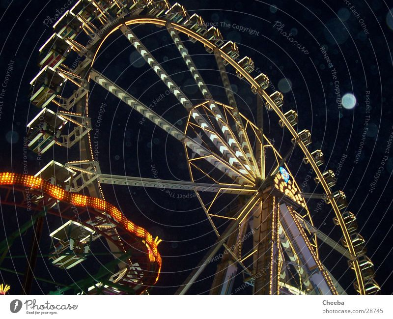 Black Dark Lamp Rain Fairs & Carnivals Ferris wheel Attraction