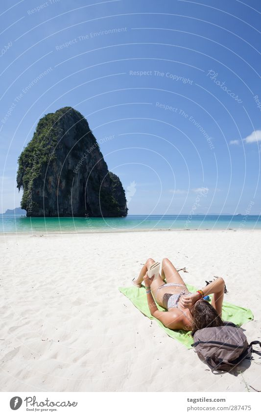 world tour Thailand Krabi Phra Nang Around-the-world trip Phra Nang Beach Phra Nang Cave Woman Thin Graceful Andaman Sea Vacation & Travel Travel photography