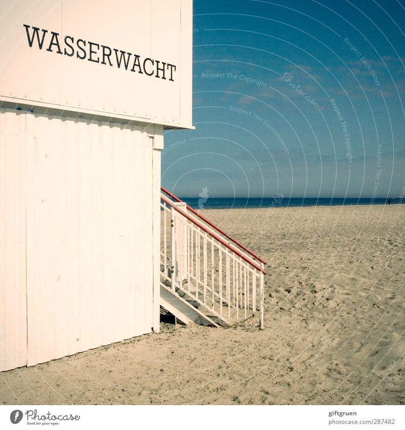 safe is safe Environment Nature Elements Sand Water Sky Coast Beach Baltic Sea Ocean House (Residential Structure) Hut Wall (barrier) Wall (building) Stairs