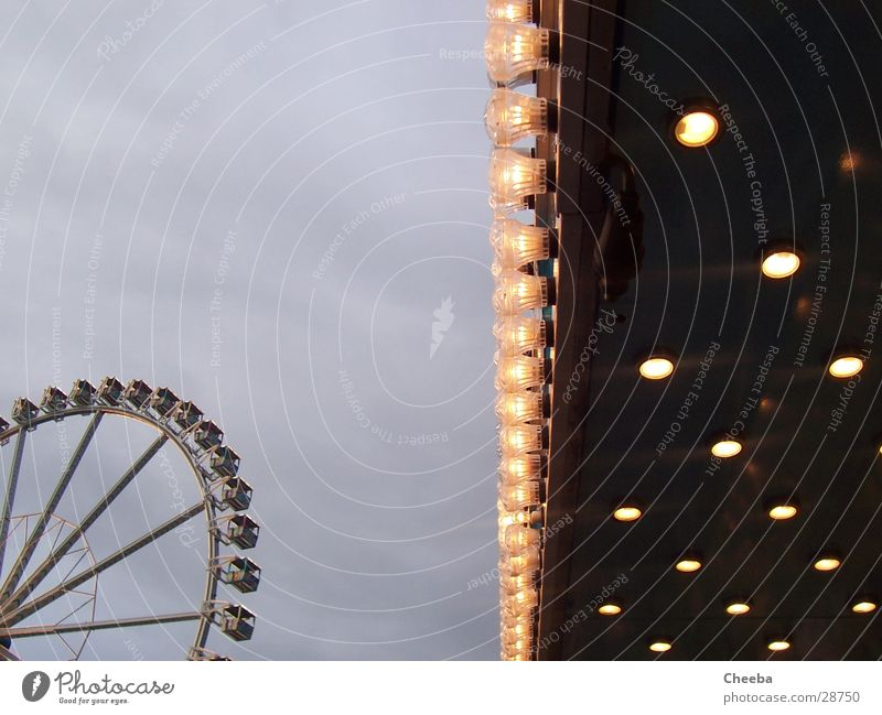 Riesenrad_Lights Ferris wheel Lamp Twilight Large Fairs & Carnivals Sky Bright