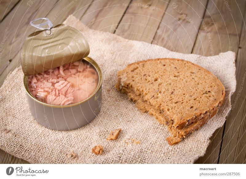 tuna with bread Tuna fish Fish Noble Tin Healthy Eating Cooking oil Dinner Brunch Wholewheat Carbohydrates Fat Delicacy Dish Food Rustic Hearty Cloth Nutrition