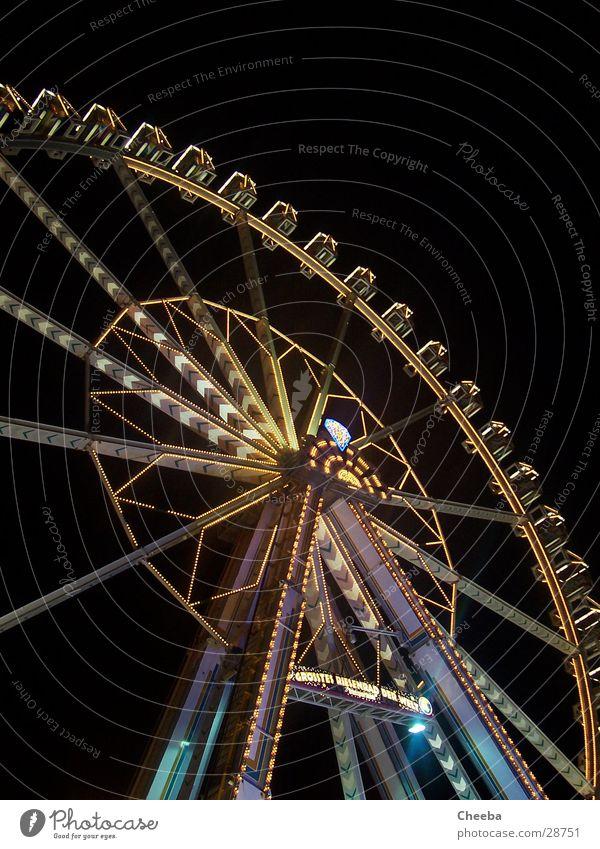 Dark Tall Large Round Level Steel Fairs & Carnivals Ferris wheel Colossus