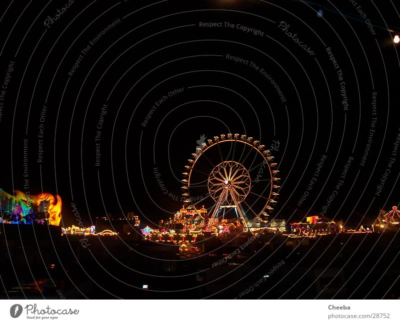 Giant Wheel Panorama 2 Ferris wheel Night Light Multicoloured Dark Attraction Roller coaster Fairs & Carnivals
