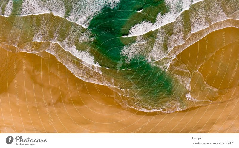 Beautiful aerial view of a beach with waves Vacation & Travel Tourism Summer Sun Beach Ocean Wallpaper Nature Landscape Sand Coast Aircraft Natural Above Blue