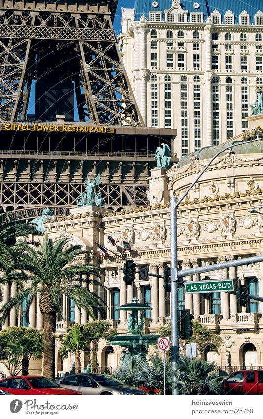 Vegas Atmosphere Las Vegas Paris Striptease Hotel Americas North America Contrast