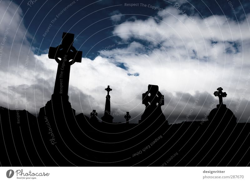 End and beginning of a journey Vacation & Travel Tourism Sky Clouds Storm clouds Ireland Church Stone Lie Wait Dark Grief Homesickness Wanderlust Beginning
