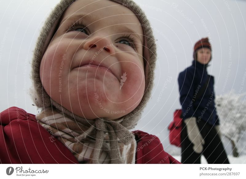 chubby cheeks Human being Feminine Toddler Girl Young woman Youth (Young adults) Woman Adults Mother 1 - 3 years Going Smiling Laughter Looking Stand Illuminate