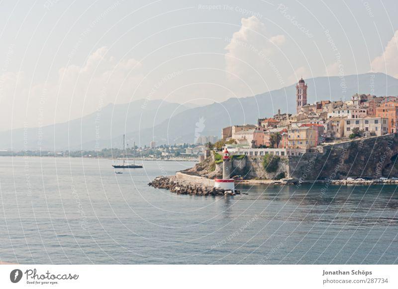 Basta äh Bastia! Beautiful weather Corsica France Town Port City Outskirts Populated Calm Come Target Drop anchor Harbour Coast Mediterranean sea Mountain