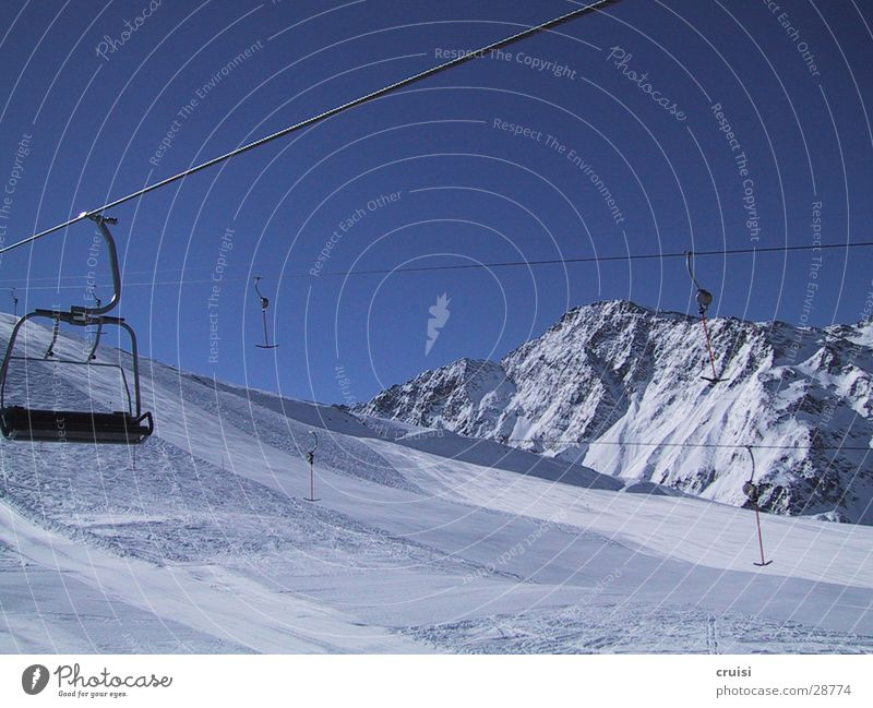 Sky Nature Vacation & Travel White Loneliness Far-off places Winter Snow Europe Ski resort Winter vacation Ski run