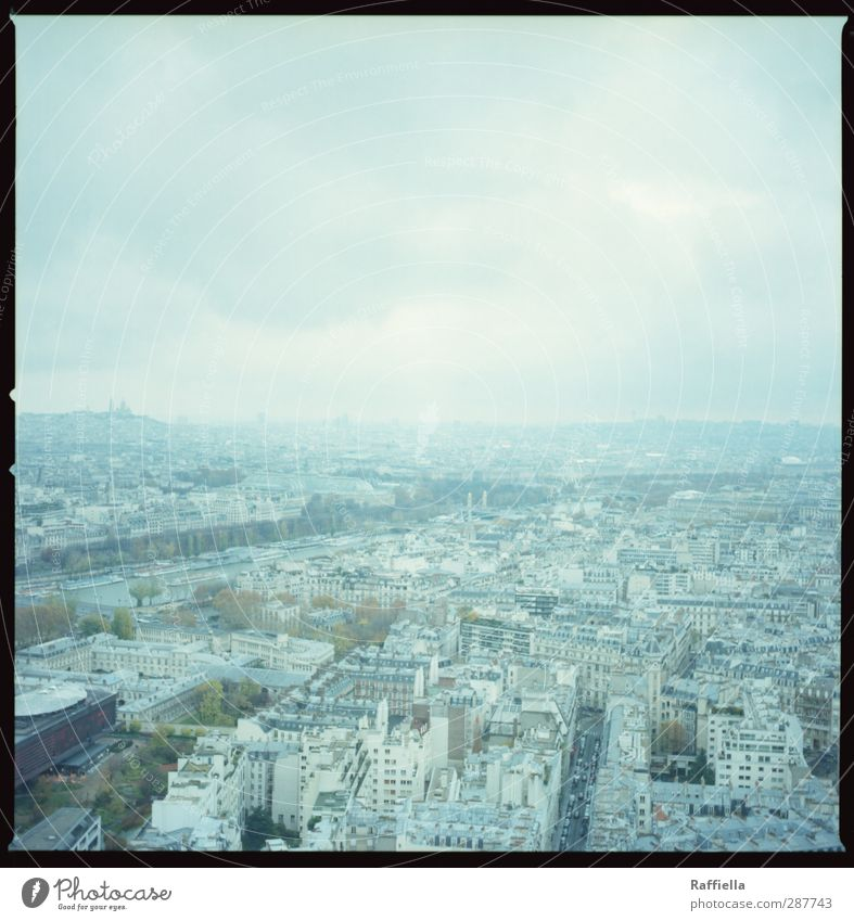 Paris I Town Capital city Populated House (Residential Structure) High-rise Blue Vantage point Eiffel Tower Tree Sky Clouds Clouds in the sky Consistent