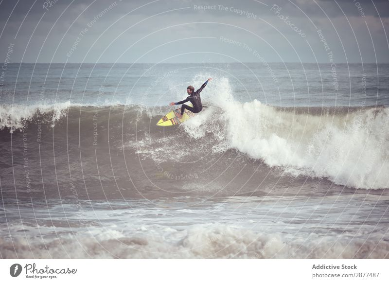 Man on surf board on water wave Surfboard Water Surface Sports Surfing Wave Silhouette